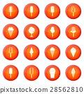 Ice cream icons vector set 28562810