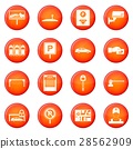 Car parking icons vector set 28562909