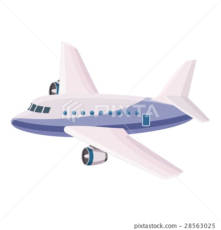 Passenger airliner icon, cartoon style 28563025