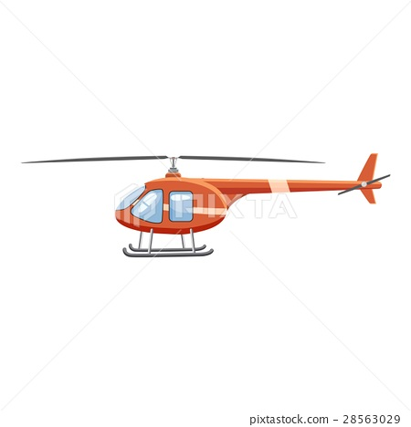 Helicopter icon, cartoon style 28563029