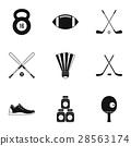 sports, accessories, icon 28563174