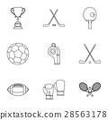 sports accessories icon 28563178