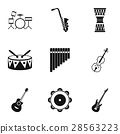 musical instruments icon 28563223