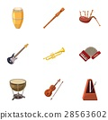 Device for music icons set, cartoon style 28563602