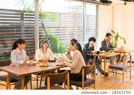 午餐商人咖啡館圖像 28563750