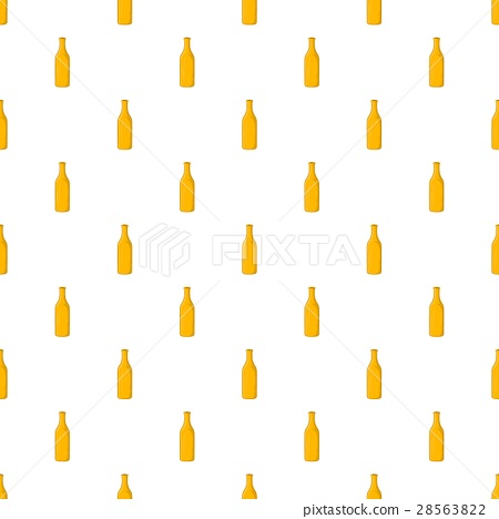 Bottle of beer pattern, cartoon style 28563822