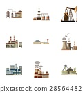 factory, icon, vector 28564482