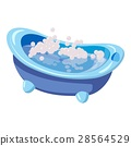 Bath for baby icon, cartoon style 28564529