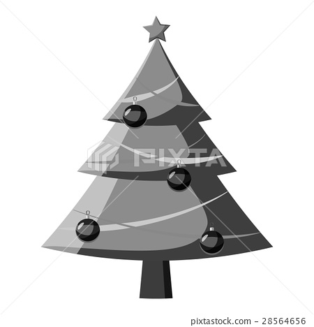 Christmas tree with toys icon 28564656