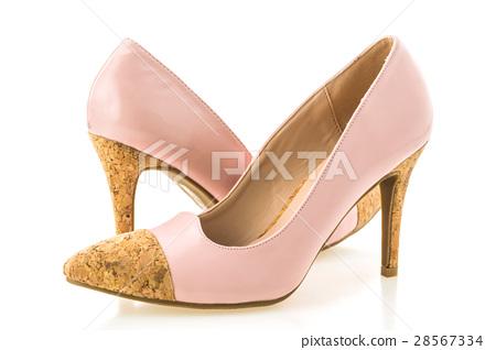 Beautiful elegance and luxury pink high heel 28567334