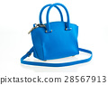Beautiful elegance and luxury fashion women and blue handbag 28567913