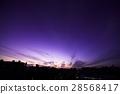 日落的天空 晚霞 城市景觀 28568417