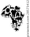 สัตว์,ภาพวาดมือ สัตว์,แอฟริกา 28573412
