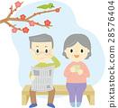 老人 老年夫婦 夫婦 28576404