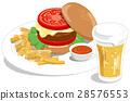 漢堡 啤酒 淡啤酒 28576553
