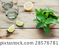 Ingredients for making mojitos mint . 28576781