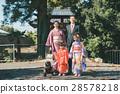 shrine, kimono, family 28578218