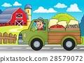 farm, truck, vector 28579072