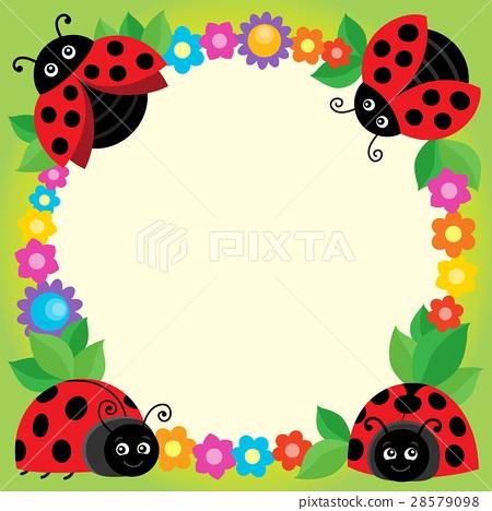 Stylized ladybugs theme image 3 28579098