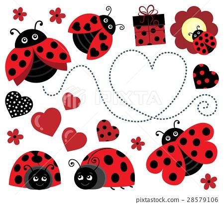 Valentine ladybugs theme image 2 28579106