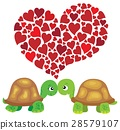 Valentine turtles theme image 1 28579107