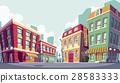 Vector cartoon illustration of the historic urban 28583333