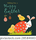 Bunny,chicken and easter egg 28584683