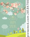 Spring blooming tree 28584700