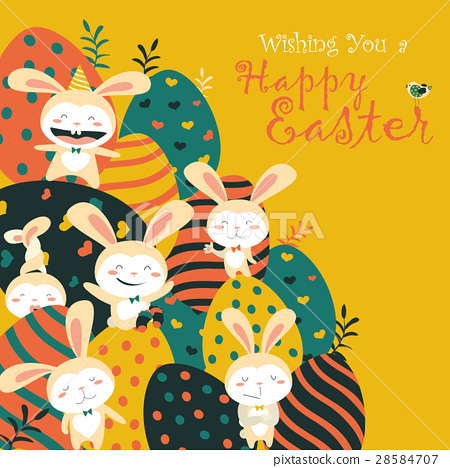 Easter bunnies and easter eggs 28584707