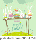 Funny bunnies celebrating Easter 28584758