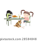Dinner with pets 28584848