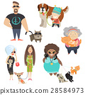 Cute pets with their owners 28584973
