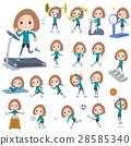 Bob hair green wear woman Sports & exercise 28585340