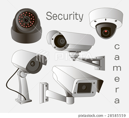 Vector set of security camera 28585559