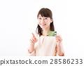 젊은 여성, 터치 스크린 28586233