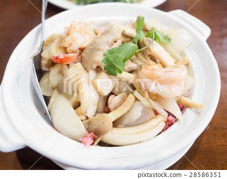 沙煲海鮮飯 28586351