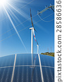 Solar Panels - Wind Turbines - Power Lines 28586636