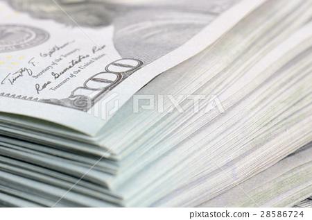 close up hundred dollars bank notes background 28586724