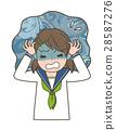 Worried girl students 28587276