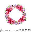 color watercolor wreath 28587375