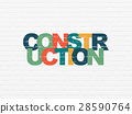 Constructing concept: Construction on wall 28590764