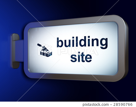 Constructing concept: Building Site and Brick Wall 28590766