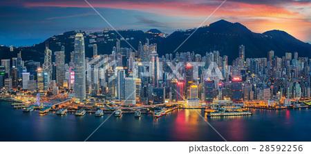 Hong Kong Island from Kowloon 28592256