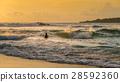 巴厘島 衝浪 日落 28592360