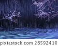 blue pond, aoiike, lit up 28592410