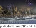 blue pond, aoiike, lit up 28592416