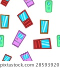 Front door pattern, cartoon style 28593920
