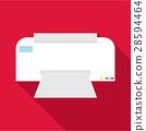 printer, flat, icon 28594464