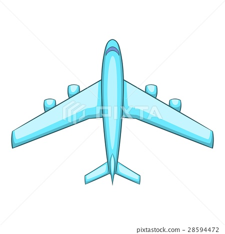 Airliner icon, cartoon style 28594472