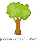 Green tree icon, cartoon style 28594529